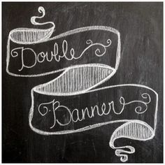 How to draw 3 different types of banners. lindsey loo loves: Another Chalkboard Tutorial