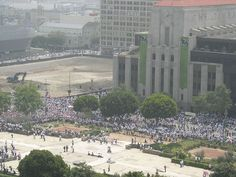 May 2006 immigration march in front of the Los Angeles Times building.