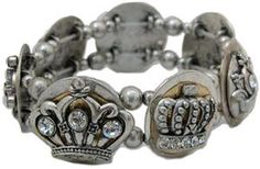 Bracelet with 7 different crowns by @classiclegacy since my name means queen in Latin....