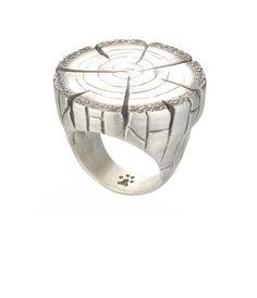 Ring | Daphna Simon. 'Log'.  Sterling silver.