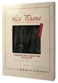 La Piana Pasta Di Campofilone Squid Ink Linguine