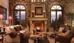 most beautiful stone fireplaces - Google Search