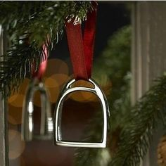 Ralph Lauren Silver Stirrup Christmas Ornament