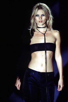 Kate Moss Gucci 1996 http://www.dazeddigital.com/fashion/article/18032/1/top-10-early-kate-moss-moments