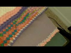 How to attach a fleece backing to a crochet blanket #43 - YouTube