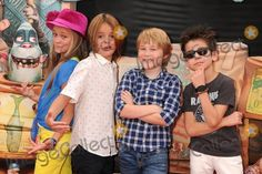 "21 September 2014 - Universal City, California - Lizzy Greene, Mace Coronel, Casey Simpson, Aidan Gallagher. ""The Boxtrolls"" Los Angeles Premiere held at Universal CityWalk. Photo Credit: Byron Purvis/AdMedia"