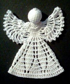 Crochet Christmas Ornaments, Christmas Crochet Patterns, Christmas Angels, Crochet Angel Pattern, Crochet Angels, Filet Crochet, Crochet Hats, Baby Sewing, Quilling