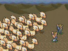 Final Fantasy VI Chocobo Stampede Cross Stitch by ServoStitches, $6.00