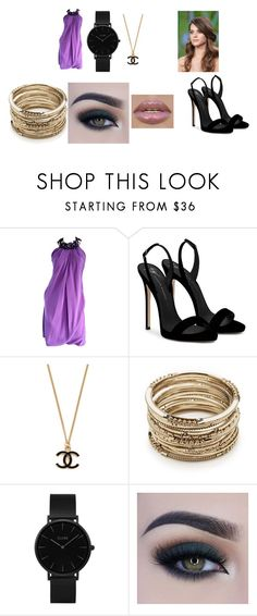 """""""Esmé Darby - Bring it on Home"""" by pepper2good4u on Polyvore featuring Pamella Roland, Giuseppe Zanotti, Sole Society, CLUSE and Too Faced Cosmetics"""