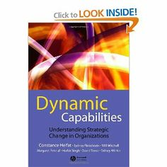 Dynamic Capabilities: Understanding Strategic Change in Organizations by Constance E. Helfat. $27.30. Publication: January 16, 2007. Publisher: Wiley-Blackwell; 1 edition (January 16, 2007). Edition - 1