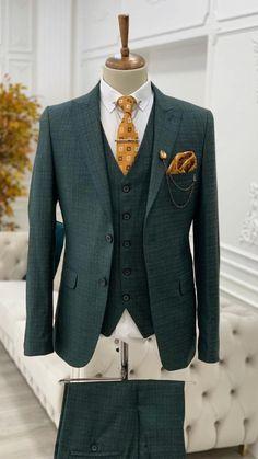 Dress Suits For Men, Men's Suits, Blazer Outfits Men, Slim Fit Suits, Formal Suits, Formal Wear, Three Piece Suit, Suit Vest, Mens Fashion Suits