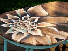 Dahlia Stained Artwork on Dining Table
