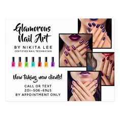 Bright Rainbow Nail Art Tech Salon Flyer Postcard- Ad- I'm in love with this design! Salon Promotions, Rainbow Nail Art, Nails Now, Nail Polish Bottles, Nail Technician, Creative Nails, Beauty Industry, Appreciation Cards, Customer Appreciation