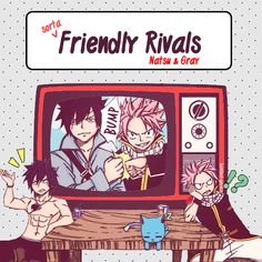 Friendly rivals: Natsu and Gray.Ü