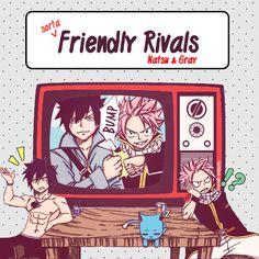 Friendly rivals: Natsu and Gray.Ü