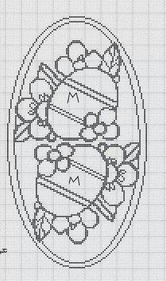 Crochet Motif, Knit Crochet, Crochet Patterns, Fillet Crochet, Easter Cross, Charts And Graphs, Point Lace, Easter Crochet, Cross Stitching