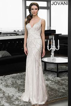 Sleeveless Beaded Gown 26009