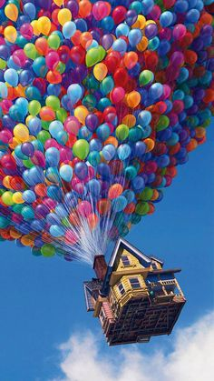 In the Disney/Pixar movie UP there is a scene where the editor forgot to edit all the balloons making the house float out of the shot.