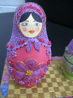 One of Licia's Quilled Babushkas -   http://en.paperblog.com/quilled-babushkas-325266/#