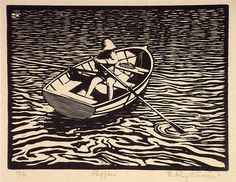 lino cuts ripples in water - Google Search