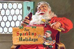 Fox News Black Santa Freak Out-One of Haddon Sundblom's Coca Cola ads.
