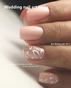 False nails have the advantage of offering a manicure worthy of the most advanced backstage and to hold longer than a simple nail polish. The problem is how to remove them without damaging your nails. Simple Wedding Nails, Wedding Nails Design, Simple Nails, Simple Elegant Nails, Trendy Wedding, Elegant Nail Art, Wedding Ideas, Cute Nails, Pretty Nails