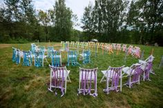 оформление свадьбы лентами #wedding #decor