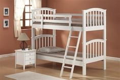 Wood Bunk BedsChoose the Bunk Bed that fits your room and your style. Order NOW by phone !BEDROOM DISCOUNTERS has the best collection of bunk beds in Sacramento and the Bay Area. We have T/T (twin over twin), T/F (twin over full), F/F (full over full) an Toddler Bunk Beds, Childrens Bunk Beds, Twin Bunk Beds, Kid Beds, Twin Twin, White Wood Bedroom Furniture, Large Home Office Furniture, Acme Furniture, Kids Furniture
