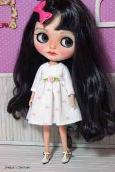 Vestido Blythe Big Eyes, Blythe Dolls, Tutu, Bangs, Black Hair, Infinity, Snow White, Disney Characters, Fictional Characters