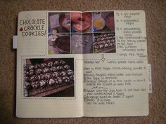 Very cute recipe book, love adding pictures! Cookbook Recipes, My Recipes, Cookbook Ideas, Delicious Recipes, Homemade Recipe Books, Italian Christmas Cookies, Food Journal, Recipe Journal, Recipe Scrapbook
