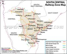 Southern Railway Map Of India.Northern Railway Zone Map My India Pinterest India Map Map