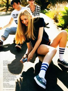 Vogue magazine featured the #AmericanApparel Calf High Athletic Socks, The Netherlands, May 2013. #Vogue #magazine #socks