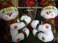 Cortineros papa noel muñecos de nieve y galleta de gengibre