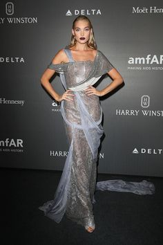 Elsa Hosk In Ralph & Russo - At the amfAR Gala Milano