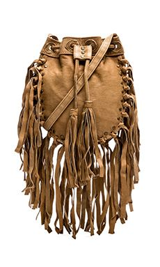Cleobella Fringe Bucket Bag in Natural