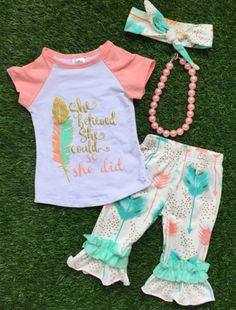 """""""She Believed"""" Infant Outfit"""