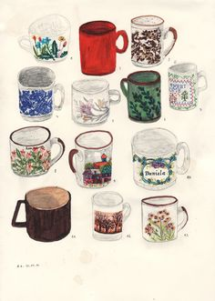 I collect coffee cups.