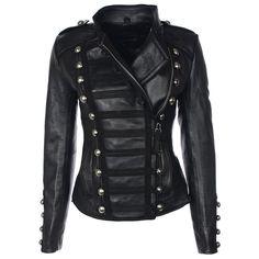Minimal Biker Jacket Wmn's Black evolvingfashion-hair-nails-clothing.blogspot.com