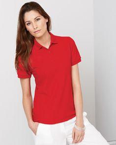 77b54aa5e G948L Ladies  6.5 oz. Gildan DryBlend Pique Sport Shirt