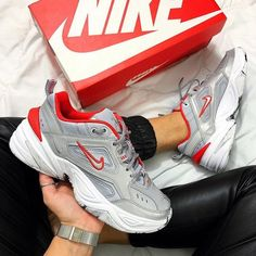 the latest 098f8 20755 Nike Shoes   Nike M2k Tekno Sneakers   Color  Gray Red   Size
