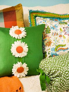 Pillows with pattern panache!