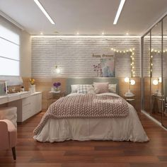 Bedroom Closet Design, Girl Bedroom Designs, Home Room Design, Room Ideas Bedroom, Teen Room Decor, Home Decor Bedroom, Aesthetic Room Decor, Stylish Bedroom, Dream Rooms
