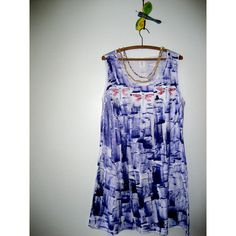 Hand Painted Sun Dress Hand Painted Dress Beach Dress Cover Up Plus... ($60) ❤ liked on Polyvore featuring dresses, grey and women's clothing