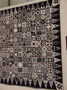 WOW!!!  LOVE, LOVE, LOVE!!!!  Black and White Dear Jane at Birmingham Festival of Quilts