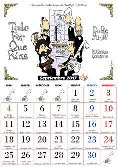 Calendario Les Luthiers - Septiembre 2017