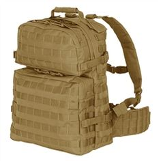 Check this out and more at militaryluggage.com  Coyote Enlarged 3 Day Assault Pack
