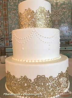 "Design W 0876 | Butter Cream Wedding Cake | 12""+9""+6"" 
