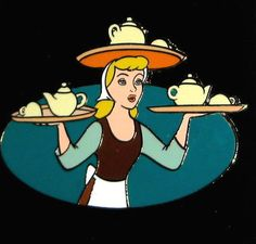 NEW Disney Auction Pin✿LE 500✿Princess Cinderella Dressed in Rags✿Tea Time✿Cups✿ #Disney
