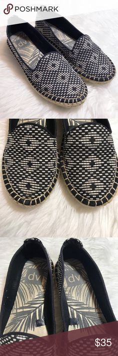 Dolce Vita Black Tan Aztec Printed Espadrilles Excellent used condition. No flaws. Worn a handful of times. Extremely comfortable shoes! Dolce Vita Shoes Espadrilles