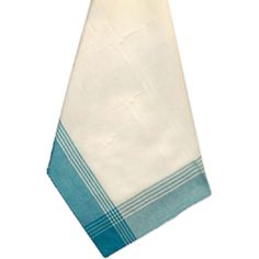 "Striped McCleod Tea Towel 20""X28""-White & Turquoise"